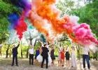 Цветной дым для свадьбы